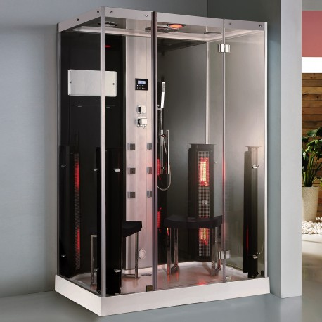 Steamdusj med IR-sauna K072 Hvit 145x90x215 cm