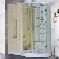 Steamdusj med tradisjonell sauna U880 Venstre
