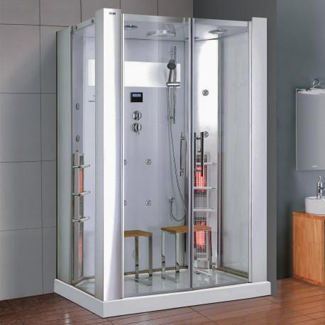Steamdusj med IR-sauna K022 Hvit