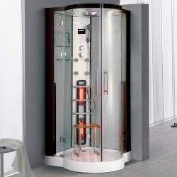 Steamdusj med IR-sauna K086 100x100x215 cm