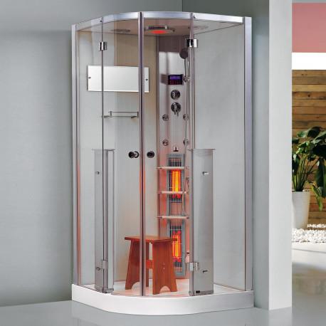 Steamdusj med IR-sauna K063 100x100x215 cm