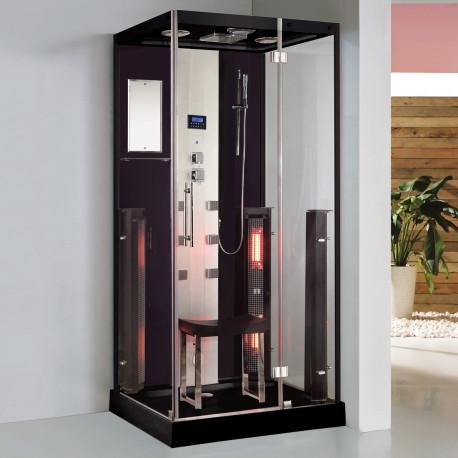 Steamdusj med IR-sauna K071 Svart 100x90x215 cm