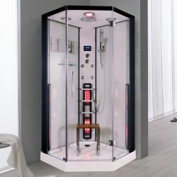 Steamdusj med IR-sauna K083 100x100x215 cm
