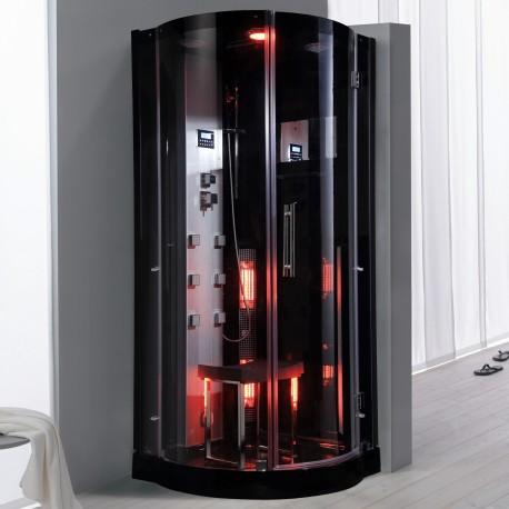 Steamdusj med IR-sauna K076 90x90x215 cm